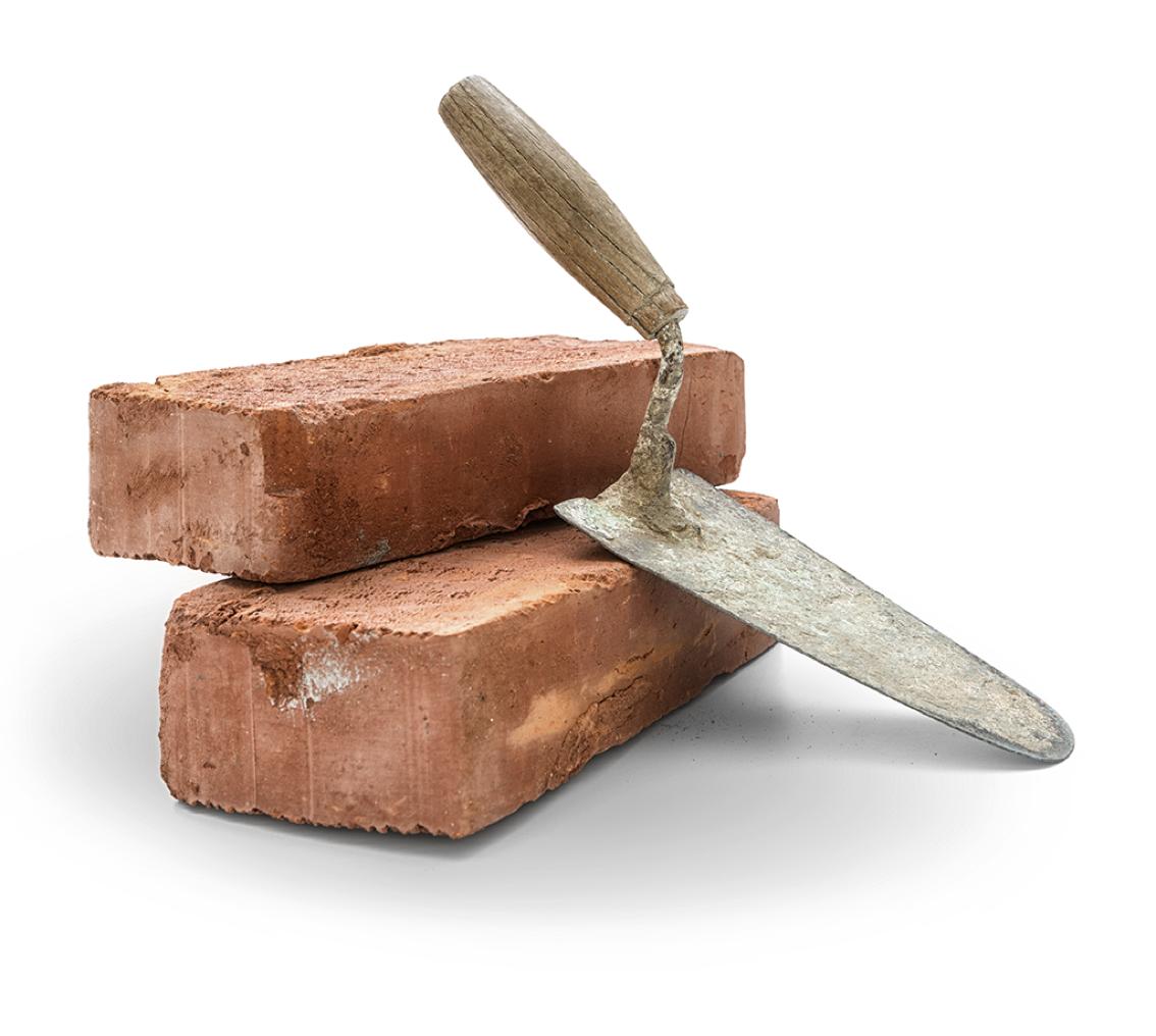bricks-trowel